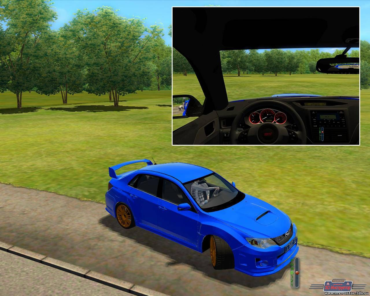 Subaru Impreza WRX STI 2011 для 3D Инструктор [2.2.7]
