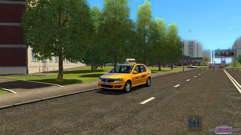 Renault Logan Taxi для 3D Инструктор [2.2.10]